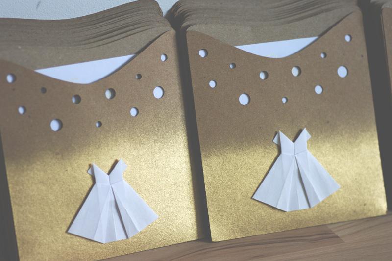 Très Faire-part petite robe origami pour Thea - Linella Créations WB53