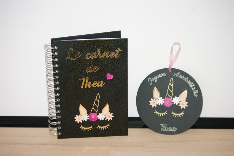 Carte anniversaire Licorne pour Miss Thea