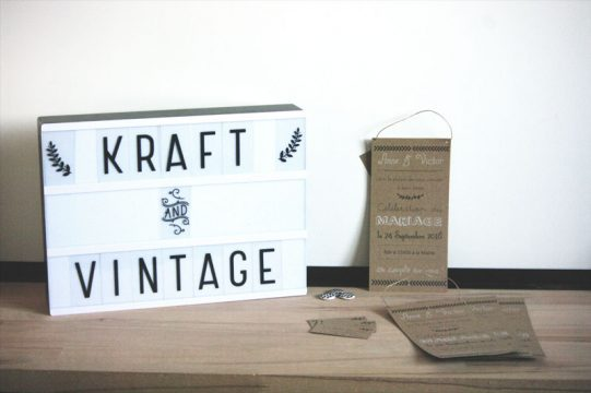 Faire-part Kraft & Vintage