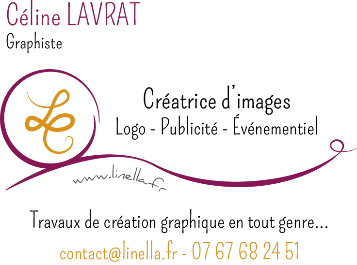 Carte de visite - contact Linella Créations
